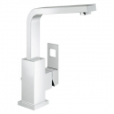 Grohe23184000 Eurocube High Spout Single Hole Lavatory in Chrome