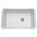RohlAllia Fireclay Single Bowl Undermount Kitchen Sink