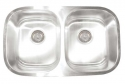 ArtisanArtisan AR3218-D10/8 Premium Series 16 Gauge Stainless Steel Undermount Double Bowl Sink