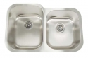 ArtisanArtisan AR3221-D10/8 Premium Series 16 Gauge Stainless Steel Undermount Double Bowl Sink