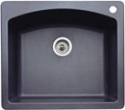 BlancoBlanco Diamond Single Bowl Silgranit II (Di) - Anthracite