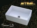 "MitraniMitrani Tuscan Lb 30"" Reversible Apront Front Single Bowl Fire Clay Sink - White"